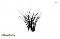 Beach Grass Silhouette Art