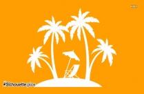 Free Palm Tree Drawing Silhouette