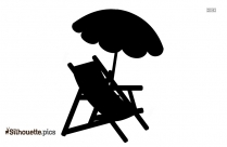 Beach Umbrella Silhouette, Umbrella Clipart Background