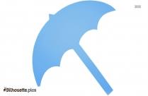 Cartoon Beach Umbrella Silhouette Image