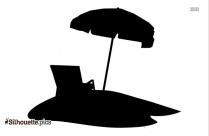 Beach Chair With Umbrella Silhouette