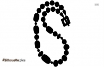 Beaded Neck Chain Vector Silhouette