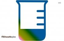 Beaker Low Level Of Solution Clip Art Silhouette