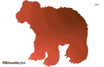 Transparent Bear Silhouette Image