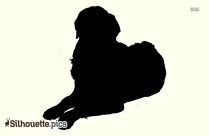 Sitting Dog Silhouette Png Image