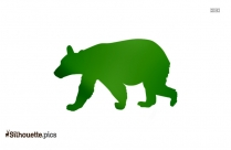 Baby Grizzly Bear Silhouette Clipart