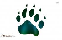 Fox Paw Print Clipart Silhouette