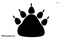 Dog Paw Silhouette