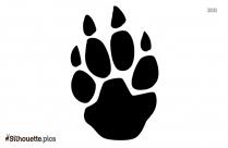 Animal Paw Logo Silhouette