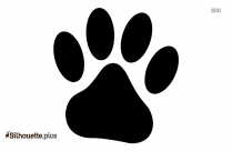 Lion Footprint Silhouette