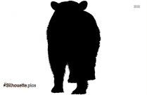 Black Cartoon Bear Silhouette Image