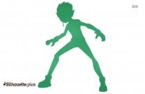 Beast Boy Silhouette Free Vector Art