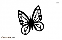 Beautiful Butterfly Outline Silhouette Image, Vector Art