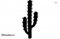 Beautiful Cactus Clipart Silhouette
