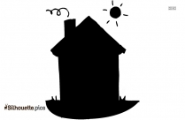 Cartoon Dog House Silhouette Image