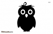 Owl Head Silhouette Art