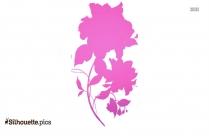 Beautiful Flower Drawings Symbol Silhouette