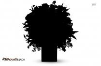 Flower Silhouette Clip Art Vector