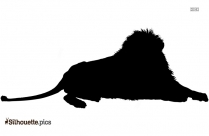 Lion Silhouette, Wildlife Clip Art Image
