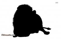 Cartoon Kawaii Lion Silhouette