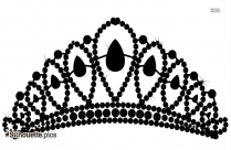Beautiful Princess Crown Silhouette
