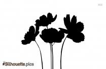Beautiful Rose Silhouette Vector
