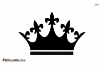 Beauty Queen Crown Silhouette Illustration