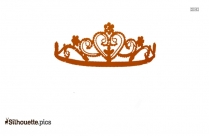Beauty Queen Crown Silhouette Image