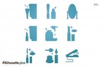 Hoop Earrings Silhouette Image Download