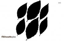 Hops Leaf Silhouette Clipart