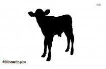 Cute Calf Silhouette