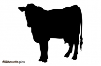 Free Cartoon Cow Silhouette Illustration