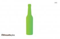 Beer Bottles Clipart, Silhouette