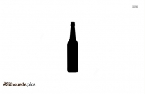 Black And White Glass Bottle Silhouette
