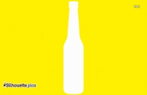 Hairspray Bottle Black And White Vector Silhouette