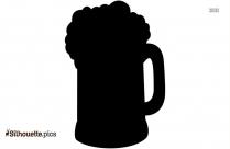 Beer Mug Silhouette Clip Art Vector Image