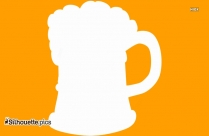 Beer Mug Silhouette Clipart, Drinks Clipart Icon