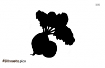 Beetroot Silhouette Clipart