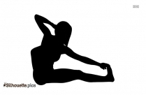 Hero Pose Yoga Silhouette Image And Vector