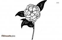 Flower Design Silhouette, Flower Drawing Clipart Illustration