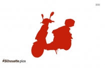 Audi Scooter Silhouette Illustration