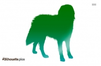 Bernese Mountain Dog Breed Clipart Vector Image Silhouette