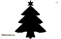 Xmas Tree Silhouette Image And Vector