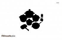 Frying Pan Clip Art Silhouette Image