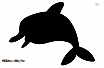 Dusky Dolphin Silhouette Black And White