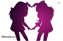 Best Friends Silhouette Images