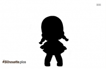 Black And White Doll Silhouette