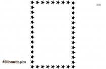 Star Frame Silhouette Vector