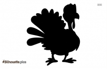 Dancing Turkey Silhouette Vector