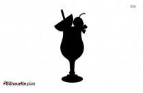 Drinks And Ice Creams Summer Silhouette